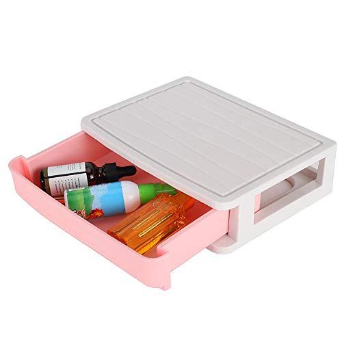 【Especial de Año Nuevo 2021】Caja cosmética ordenada, soporte cosmético de material PP de alta calidad, maquillaje de vestir ecológico seguro y duradero para viajes de regalo(Small pink (1st floor))