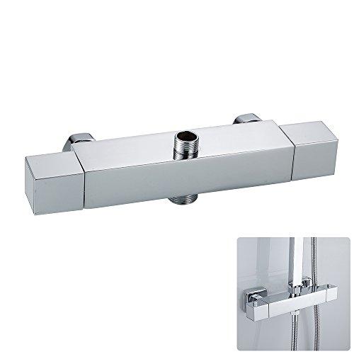 Termostato de ducha con salida superior e inferior, grifo de mezcla con válvula termostática