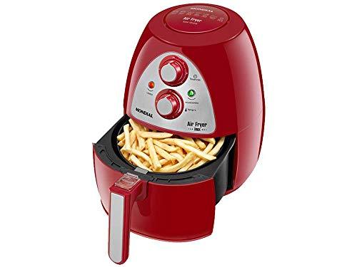 Fritadeira Air Fryer Mondial Family 4L - 220V - Vermelho e Inox - AF-14-4L