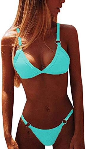 CheChury Costumi da Bagno Donna Mare Bikini Due Pezzi Push-up Reggiseno Imbottito Sportivi Bikini Brasiliano Triangolo Sexy Perizoma Soft Spiaggia