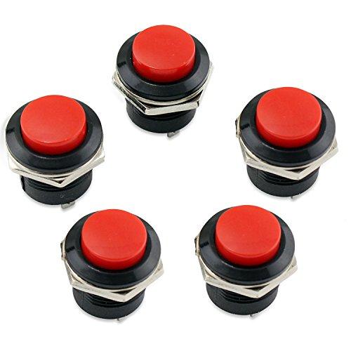 PsmGoods 5 Momentary EIN/Aus-Taster Horn Schalter für Auto Auto (Red)