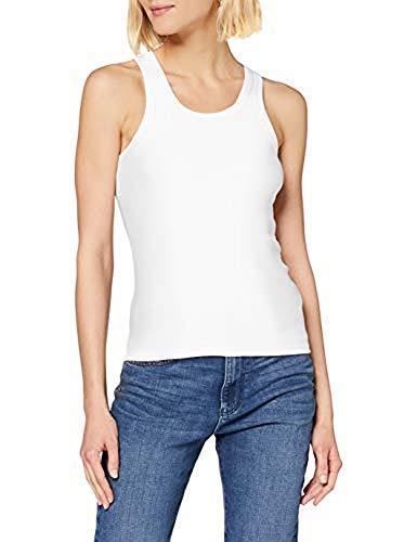 Petit Bateau 5328801 Camiseta sin Mangas, Blanco (Ecume 01e), Medium (Talla del...