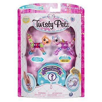 Twisty Petz - Serie 2 - 3er Pack - Bubbleyum Kitty und Sugarstar Flying Pony