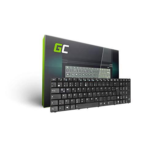 Green Cell® Laptop Tastatur für Asus K52 K52J X53S K52F X54H A52 K53S X54C K53 X52 X54 A52F X52J K52N K53SV N61 K52JC X53 K53E K52D K52JR X54F K72J K53SJ (Tastenbelegung: DE QWERTZ | Farbe : Schwarz)