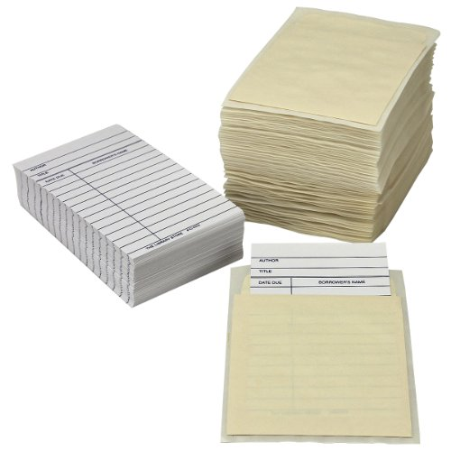 The Library Store Library Book Pocket/Book Card Combo Pack 100 of Each per Package