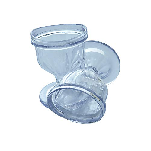 Transparent Eye Wash Cups for Effective Eye Cleansing - with Storage Container - Eye Shaped Rim, Snug Fit (2 Pcs.)