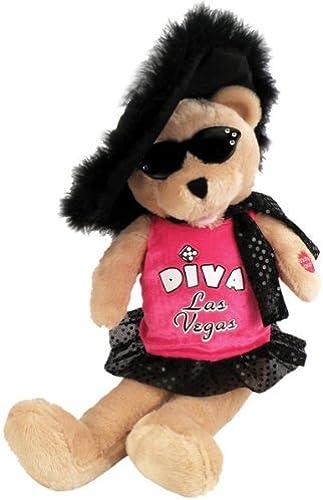 echa un vistazo a los más baratos Chantilly Lane Lane Lane Diva Las Vegas Bear Sings Viva Las Vegas 17 Plush by Chantilly Lane  popular