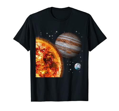 Weltraum Motiv Universum Galaxie Planeten Sonne Sonnensystem T-Shirt