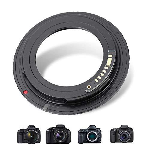 Bindpo Adapterring für M42-EOS/EF Objektive, Metalllinsenkonverter für M42-Objektive für Canon EOS/EF Montierung 1000D 1100D/T3 1200D/T5 1300D/T6 70D 77D 80D 7D Mark II 5D Mark II usw.