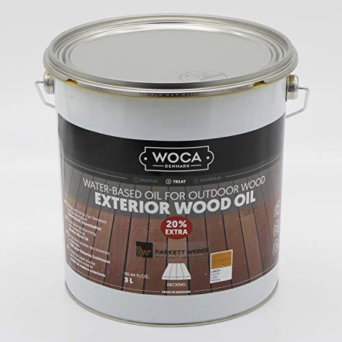 Woca Exterior Öl Lärche - 3 Liter - Terrassenöl Jubiläumsangebot