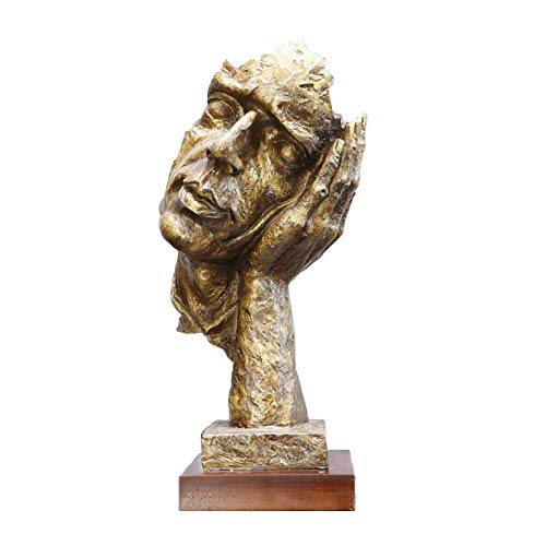 Estatua Creativa del Retrato De La Resina, Ornamento Nórdico Moderno Abstracto De La Escultura Abstracta, para La Sala De Estar del Hogar Oficina Decoración del Gabinete del Vino Artesanías,A