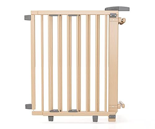 Geuther, EASYLOCK 2733+, Barrière de sécurite pivotante pour escalier, Naturel, 67 cm