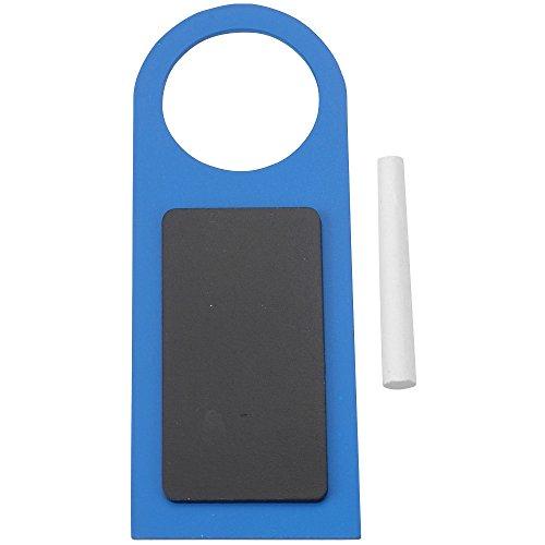 Promobo - Pancarte De Porte Panneau De Chambre En Ardoise A Inscrire Avec Craie Bleu