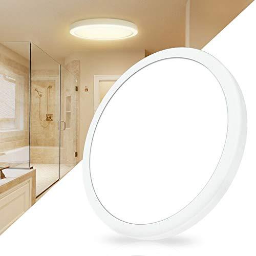 BENMA LED Deckenleuchte Beleuchtung, 18W Extra Flach Rund Deckenlampe, 3000K Deckenleuchten Ø18cm Wandleuchte, Spritzwassergeschützt Bad LED Deckenleucht für Schlafzimmer Küche Flur Keller (Warmweiß)