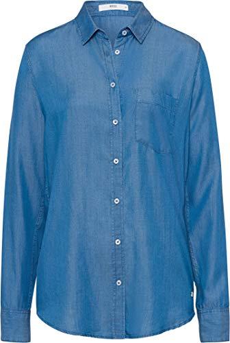 BRAX Damen Style Victoria Tencel Bluse, Blau (Indigo 23), (Herstellergröße: 36)