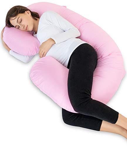 Meiz 抱き枕 妊婦 授乳クッション C型 背もたれ マタニティ だきまくら 横向き寝 妊娠 出産祝い カバー洗える