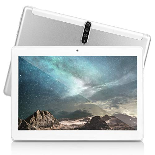 10 inch Android Tablet PC with Octa Core CPU,4G ROM 64G ROM, SIM Card Slot,3G-, 5G-WiFi GPS Bluetooth, 3G Unlocked Tablet,M20(Silver)