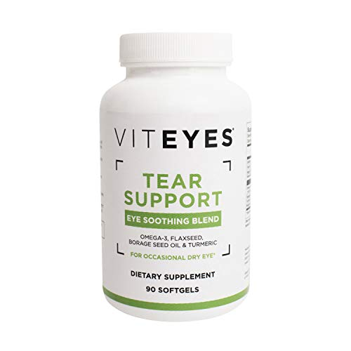 Viteyes Tear Support Eye Soothing Blend, Dietary Supplement for Occasional Dry Eye, 90 Softgels