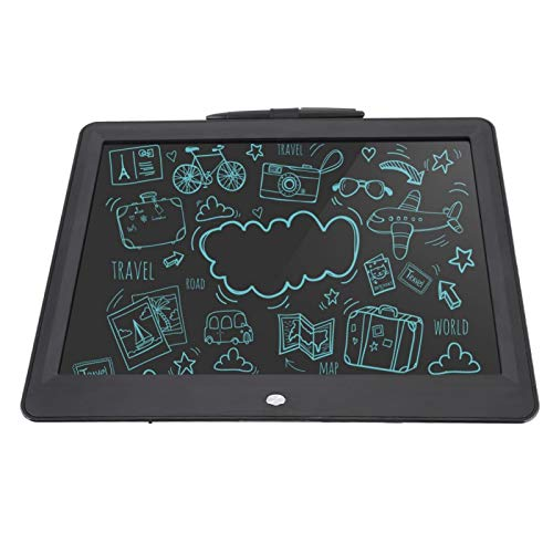 Vcriczk Memo Pad Tablet, Durable LCD Eye-Friendly 15 Inch Mini Pen Graphics Pad, for Kids Office