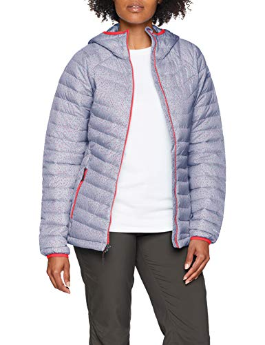 Columbia Damen Insulated Jacket Insulated Jacket Powder Lite Hooded, Violett (Astral Tweed Print), M