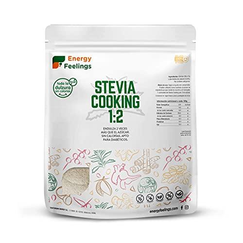 Energy Feelings Stevia Cooking | Eritritol Con Stevia En Polvo | Edulcorante Y Endulzante Natural |...
