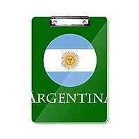 アルゼンチンサッカー フラットヘッドフォルダーライティングパッドテストA4