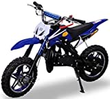 Kinder Mini Crossbike Delta 49 cc 2-takt Dirt Bike Dirtbike Pocket Cross (Blau)