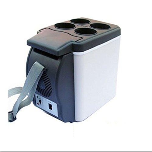 Q-HL Auto Elektrische Kühlschrank Kühlbox, 6L Auto Kühlschrank, tragbare Mini-Kühlschrank, AC und DC Hotspot-System, Thermostat, Medikamentenlager, Kosmetik-Kühlschrank