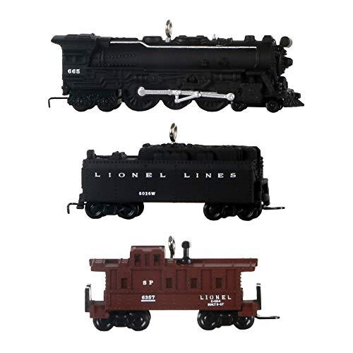 Hallmark Keepsake Christmas Ornaments 2020, Mini Lionel Trains 2201WS Fireball Express, Set of 3