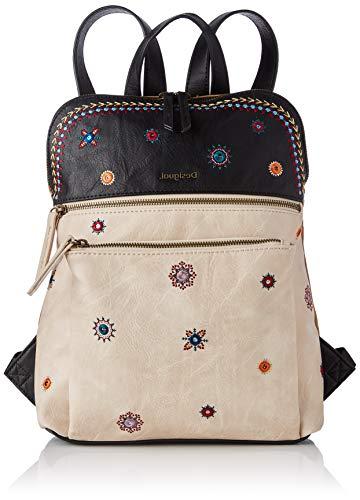 Desigual PU Backpack Medium, Zaino Medio Donna, Marrone