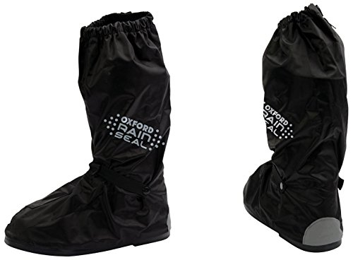 Oxford Rainseal - Botas Impermeables para Moto, 2 XL, OBXXL, Color Negro, L