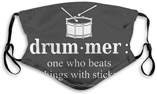 Face Décor Drummer One Who B-eats Th-ings con palos, unisex para boca, mufle, bufanda para la cara, cubierta para la boca