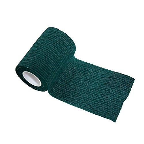 nilo Haftbandagen - 12 Rollen 5cm x 4,5m selbsthaftende elastische atmungsaktive Bandage, Fußverband, Pfotenverband, Erste Hilfe, Stützverband (Grün)