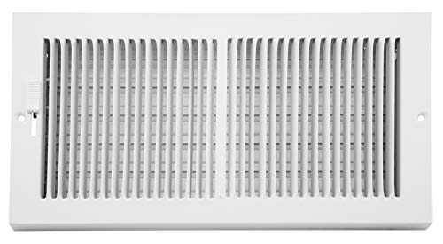Accord AB3BRWH126 Baseboard Register with 1/3-Inch Fins Louvered Design, 12-Inch x 6-Inch(Duct Opening Measurements), White