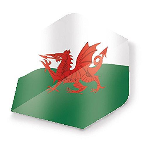 Unicorn Maestro 100 Plus Dart-Flug, walisische Flagge, Mehrfarbig, Einheitsgröße