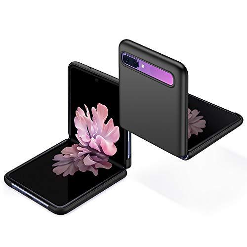 anccer Kompatibel mit Samsung Galaxy Z Flip Hülle [Serie Matte] Elastische Schockabsorption & Ultra dünnes Handyhülle Design für Samsung Galaxy Z Flip (Glattes Schwarzes)