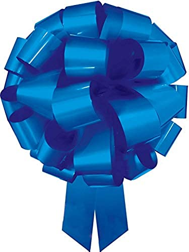 Qualatex 30463 Incrotibow Geschenkschleifen, vorgefertigt, 61 cm, lackiert, blau