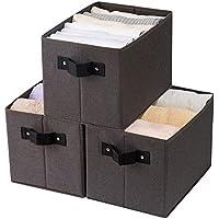 Qozary 3 Pack Sturdy Storage Baskets for Shelf