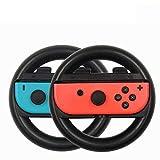 2pcs Controlador de volante, Puños Joy-Con Wheel Handle para Nintendo Switch. ( Negro )