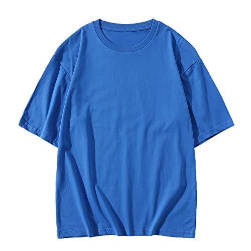 Camiseta de manga corta de algodón para hombre de primavera