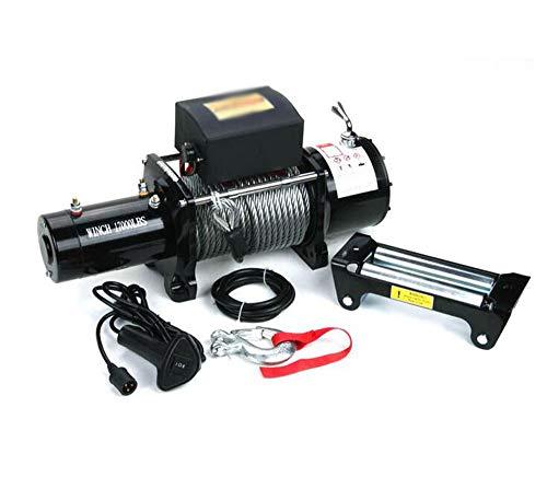 BTHDPP 17000lb Elektrische Seilwinde Winch Kit ATV Anhänger LKW HIGH TENSILE Steel Kabel Auto Fernbedienung Set,24V