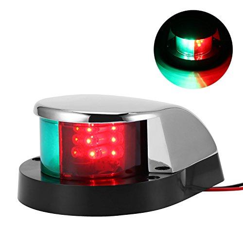 ONEVER Luci di Navigazione a LED per Barche Marine Lampada di Navigazione, LED Rosso e Verde per Barche Pontoon Yacht Skeeter