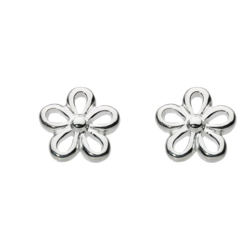 Dew Women's Sterling Silver Flower Stud Earrings
