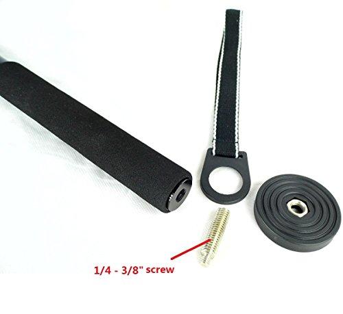 koolehaoda Monopiede in fibra di carbonio con pieghevole tre piedi di appoggio stand (fibra di carbonio monopiede)