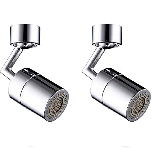 ADICOM Universal Splash Filter Faucet 720° Rotate Water Outlet Faucet with 4-Layer Net Filter, Anti-Splash, Faucet Aerator Leakproof Design with Double O-Ring 2PCS