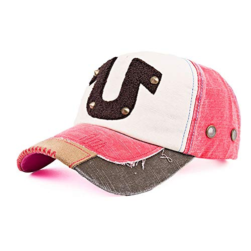Baseball Cap Zomer Sport Casual Sun Hat Outdoor Golf Tennis Cap, Vier seizoenen, kleur bijpassende handdoek geborduurd klinknagel U hoefijzer katoen baseball cap, outdoor sport vrije tijd zonnehoed