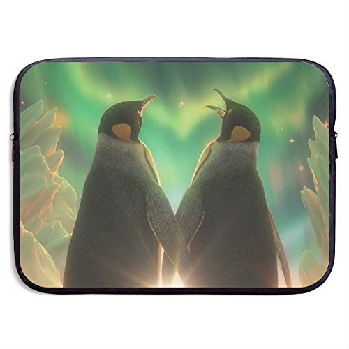 Pinguin Liebe Herz Antarktis Aurora Polaris Light Laptop Hülle Fall Tasche Abdeckung Computer für 15 Zoll