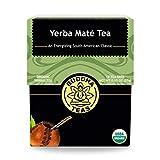 Buddha Teas Yerba Mate Tea | 18 Bleach-Free Tea Bags | Energizing and Caffeinated | 15 Amino Acids and 24 Vitamins and Minerals | Antioxidants | Made in The USA | No GMOs