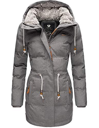 Ragwear Damen Jacke Wintermantel Winterparka Ashani Puffy Grau B20 Gr. L