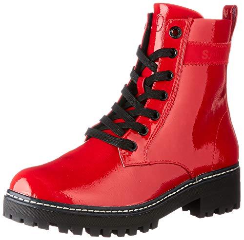 s.Oliver Damen 5-5-25256-25 Stiefelette, RED PATENT, 39 EU